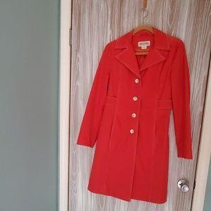 Michael Kors red medium rain coat